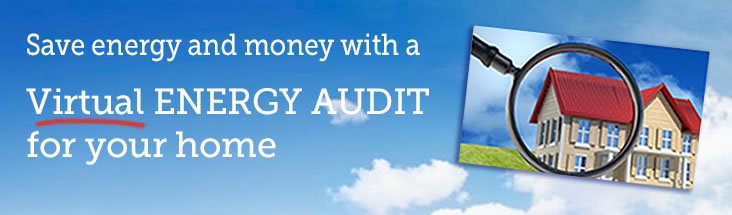 Save with a virtual energy audit for your home.