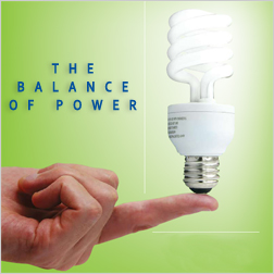 The Balance of Power: Finger balancing a florescent Light Bulb